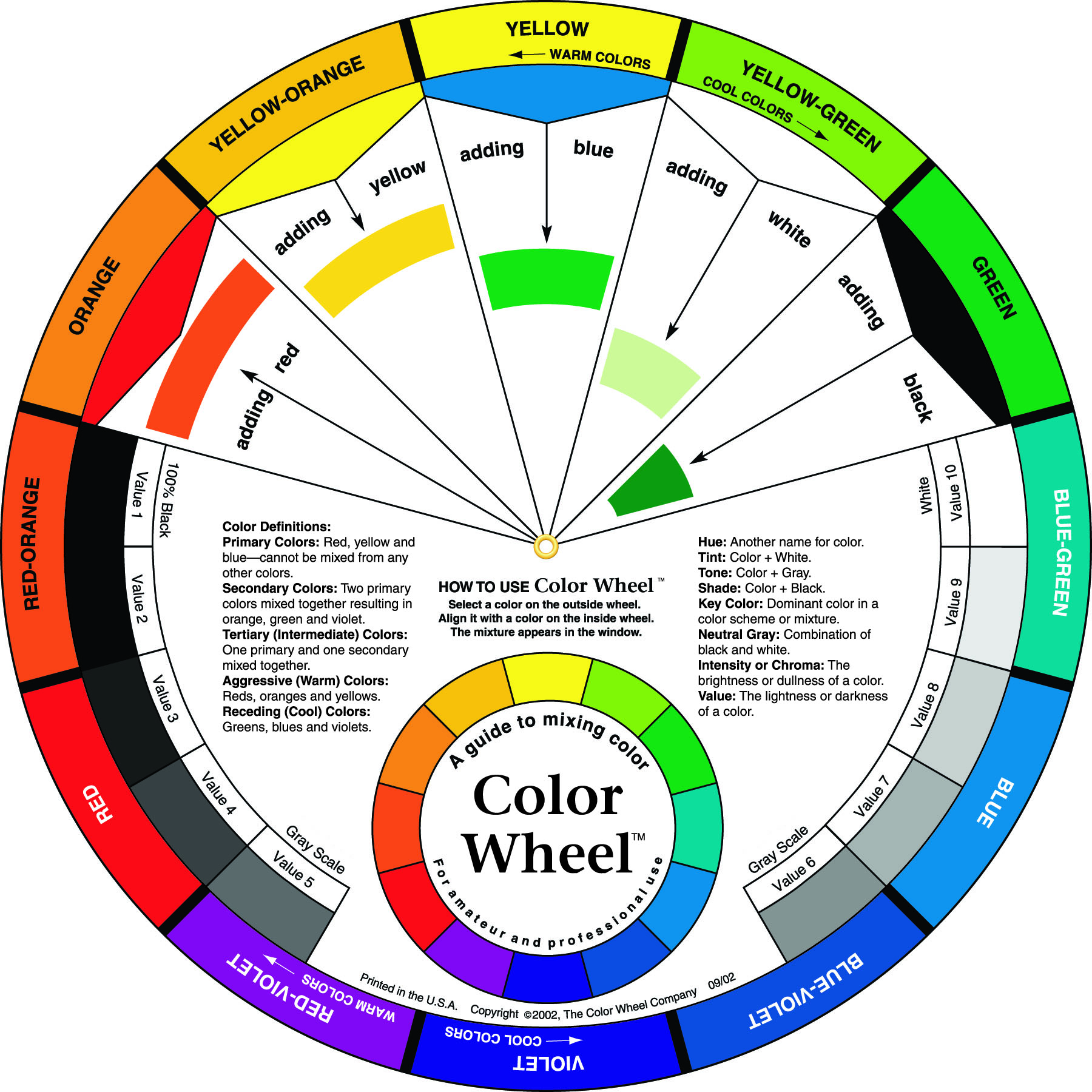 12 Color Wheel Template | New Calendar Template Site